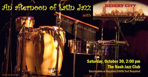 An Afternoon of Latin Jazz! – October 30, 2021 at 2:00